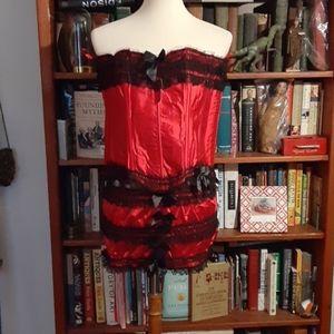 Adore Me corset and bottoms